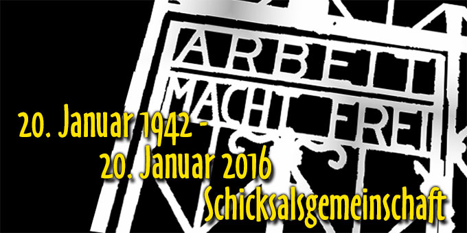 20. Januar 1942 - Schicksalsgemeinschaft (Grafik: Hbre)