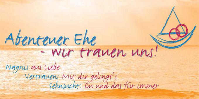 """Flyer-Cover """"Abenteuer Ehe"""" (Gestaltung: Kirschner)"""