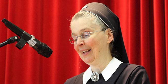 Die neu eingesetzte Schulleiterin Schwester M. Gabriele Schreck (Foto: SchMS)
