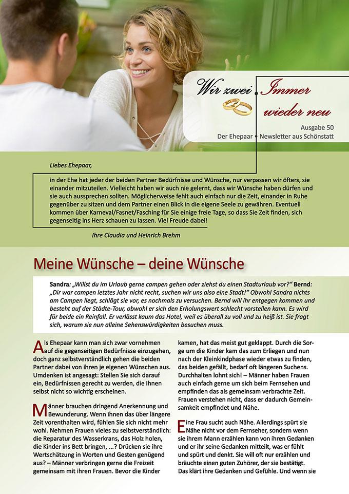 "Ehepaar-Newsletter 02/2017 ""Wir zwei - Immer wieder neu"" (Foto: © eric, fotolia.com)"
