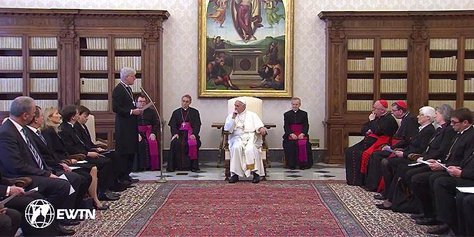 Rede: Landesbischof Heinrich Bedford-Strohm (Foto: EWTN-Mitschnitt)