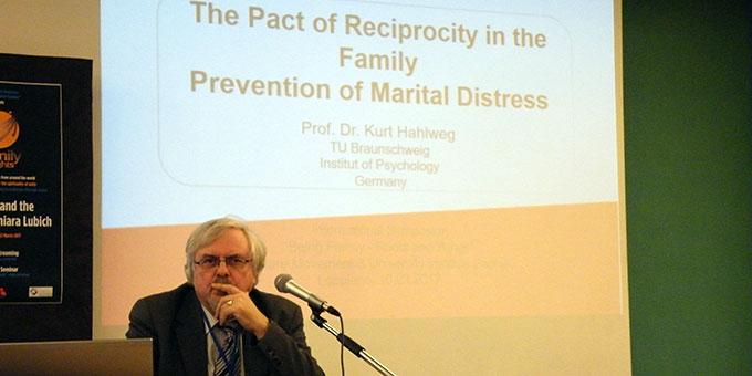 Prof. em. Dr. Kurt Hahlweg (Foto: www.famiglienuove.org)