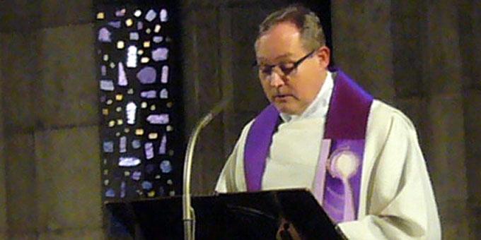 Pfr. Klaus Rennemann, Vorsteher der Liturgie (Foto: Wehrle)
