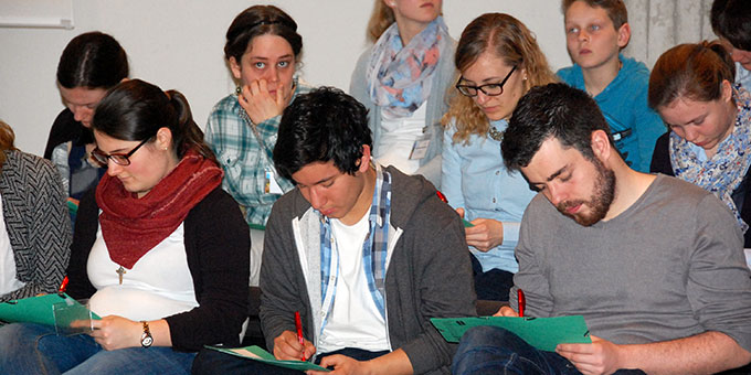 Bei der Auswertung der Delegiertentagung (Foto: Brehm)