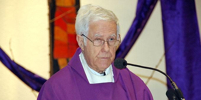Predigt: Pater Angel Strada, der bisherige Postulator im Seligsprechungsprozess von Pater Josef Kentenich (Foto: Brehm)