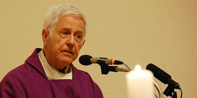 Pater Angel Strada dankt den vielen Mitarbeitern und Helfern in der Causa Kentenich  (Foto: Brehm)