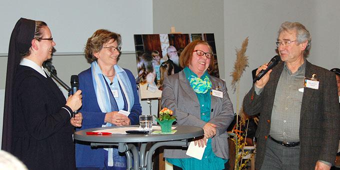 Schwester M. Veronika Riechel, Maria Wolff, Gertrud Gausling, Klaus Heizmann  (Foto: Brehm)