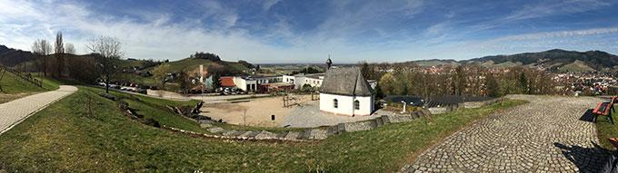 """Das wunderschön gelegene Schönstatt-Zentrum Marienfried in Oberkirch sah die Pionierveranstaltung des vom JKI angebotenen """"Fernlehrgangs Schönstatt"""" (Foto: T. Brehm)"""