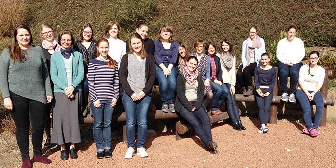 """Die Teilnehmerinnen des """"Weggemeinschaft""""-Wochenendes (Foto: Becker)"""