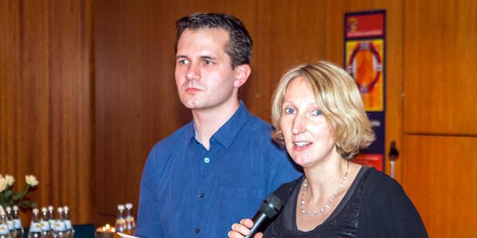 Regina und Patrick Klausmann hielten die Impulse beim Candlelight-Dinner in Stuttgart (Foto: Wiehl)