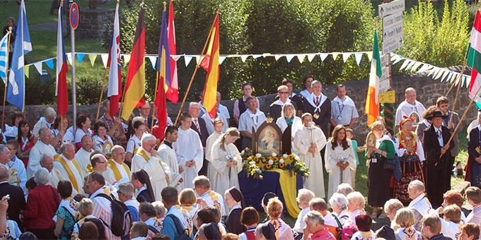 """Das Pilgerbild der """"Königin der Neuevangelisierung"""" 2012 in Schönstatt (Foto: Brehm)"""