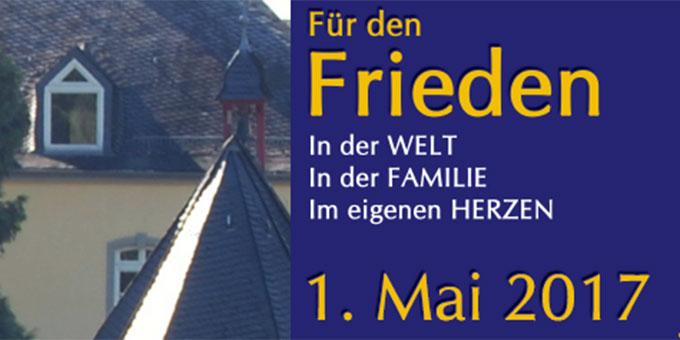 Friedenswallfahrt nach Schönstatt am 1. Mai 2017 (Foto: ProjektPilgerheiligtum)
