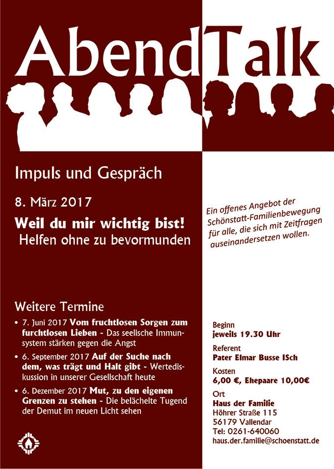 AbendTalk 8.3.2017 Plakat (Grafik: Brehm)