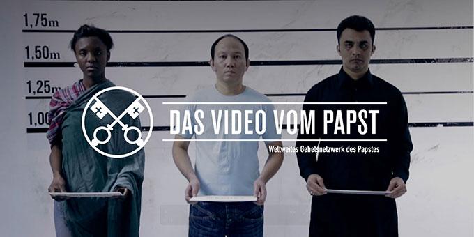 """""""Das Video vom Papst"""" im März 2017 (Foto: Worldwide Prayer Network)"""