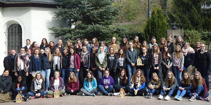 Die Teilnehmerinnen der Trägerinnenschulung 2017 am Urheiligtum  (Foto: Ulrike Weiß)
