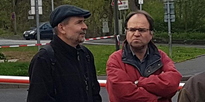 Pfarrer Armin Haas (l) und Franz-Josef Tremer (Foto: Nicholas Wolf)