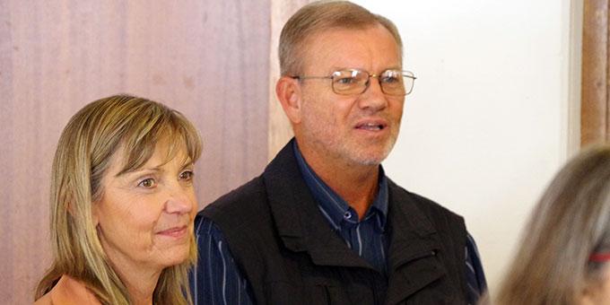 José Köstner und Patricia Vázquez Köstner, Argentinien, Institut der Schönstatt-Familien, wurden begrüßt. Sie sind derzeit für ca. 6 Monate Wächterfamilie für das Haus und Heiligtum der Familie (Foto: Neiser)