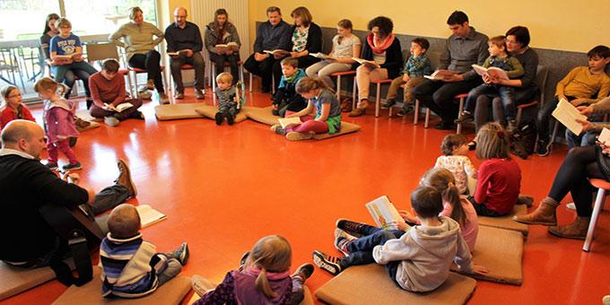 Ein Familientag mit vielen Kindern (Foto: Mathias Horwath )