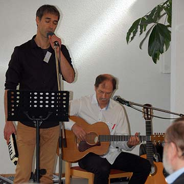Musik: Amin Jan Sayed und Wilfried Röhrig (Foto: Brehm)