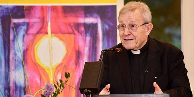 Portrait von Kardinal Walter Kasper bei seinem Eröffnungsvortrag am 19.05.2017 (Foto: Timo Michael Kessler)