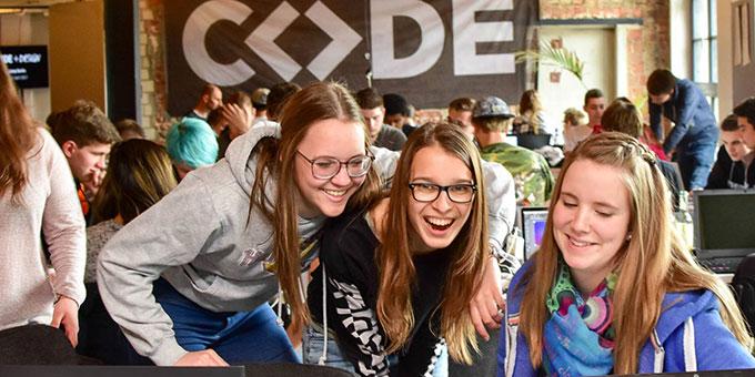 Beim Code+Design Camp Berlin (Foto: Code+Design)