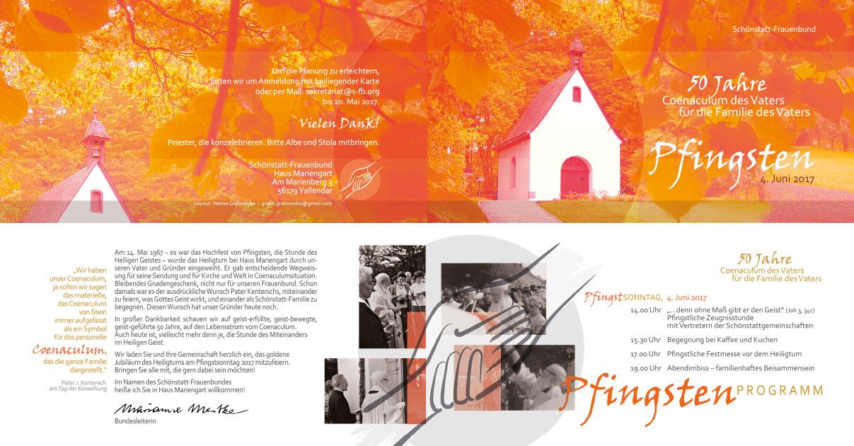 Einladung: 50 Jahre Coenaculum des Vaters für die Familie des Vaters (Grafik: Grabowska)