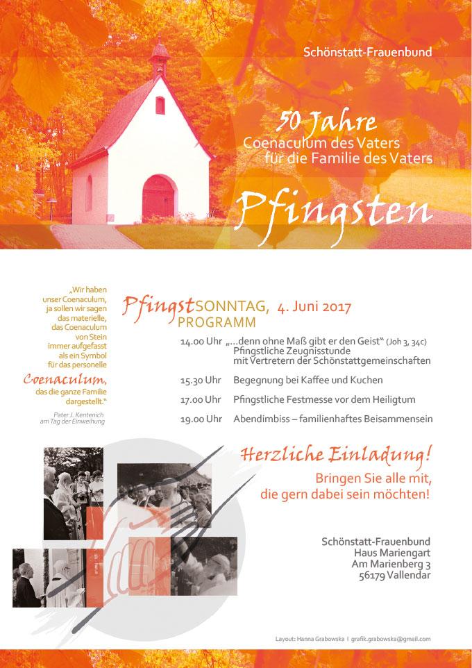 Plakat: 50 Jahre Coenaculum des Vaters für die Familie des Vaters (Grafik: Grabowska)