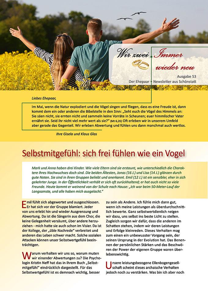 """Ehepaar-Newsletter 05/2017 """"Wir zwei - Immer wieder neu"""" (Foto: © grafikwerk21, fotolia.com)"""