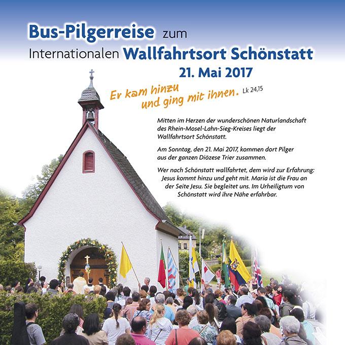 Flyer Pilgertag (Foto: Schönstatt-Bewegung Trier)