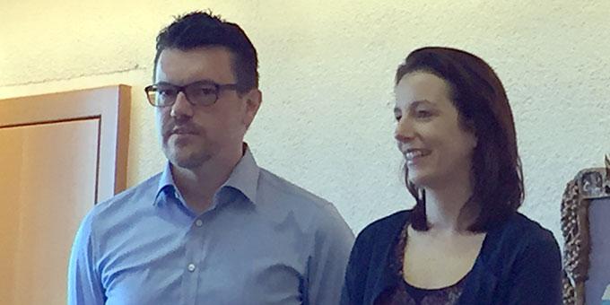 Christine und Oliver Sladek, Referenten beim Ehevorbereitungsseminar in Vallendar-Schönstatt (Foto: Pille)