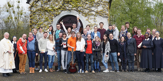 16 Paare nahmen am Ehevorbereitungsseminar in den Kar- und Ostertagen in Schönstatt teil (Foto: Pille)