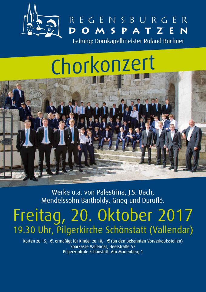 Plakat: Regensburger Domspatzen singen in Schönstatt/Vallendar