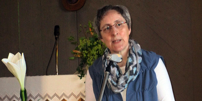 Sr. M. Caja Bernhard referierte beim Tag der Frau in Herxheim (Foto: Götz)