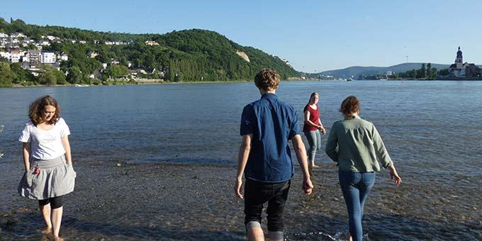 Etwas Freizeit muss sein! Die Seele baumeln lassen am Rheinufer - das Deutsche Eck im Blick (Foto: Matt)