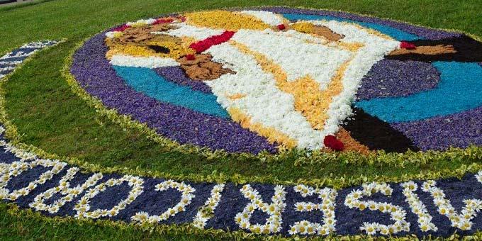 Blumenteppich auf Berg Schönstatt (Foto: Pilgerzentrale Schönstatt)