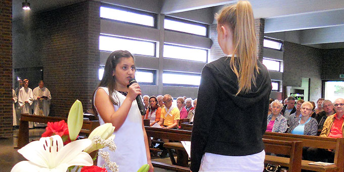Anspiel im Gottesdienst beim Kapellchenfest in Fulda (Foto: Renate)
