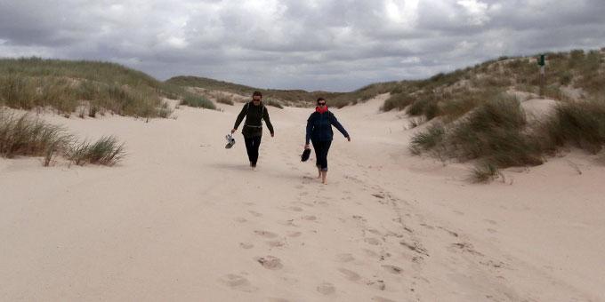 Sanddünenspaziergang (Foto: Heger)