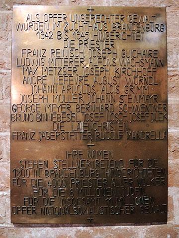 Gedenktafel mit Reinischs Namen (Foto: Neumann)