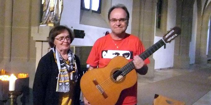 Erika Seller und Franz Josef Tremer bei der Reinisch-Gedenkfeier in Bad Kissingen (Foto: Pfarrgemeinde Bad Kissingen)