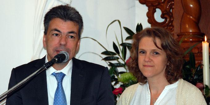 Diana und Lukas Schreiber, Leitungsfamilie des Schönstatt-Familienbundes, Deutschland (Foto: Brehm)