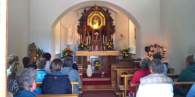Das Schönstatt-Heiligtum bot sich an zum stillen Gebet (Foto: Hbre)