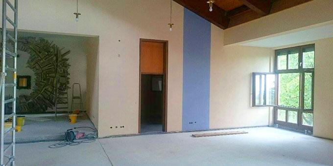 Der Raum soll heller werden und farbliche Akzente bekommen (Foto: Huber)