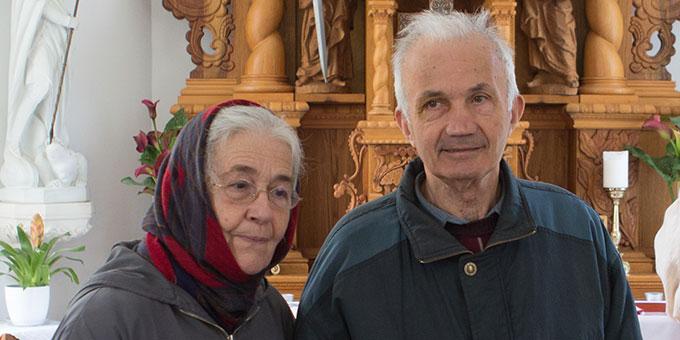 Europaforum der Familien 2017: Rita und Róbert Gódány im Schönstatt-Heiligtum in Óbudavár, Ungarn (Foto: privat)
