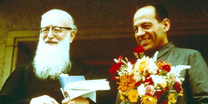 Pater Josef Kentenich und Pater August Ziegler (r) (Foto: Archiv)