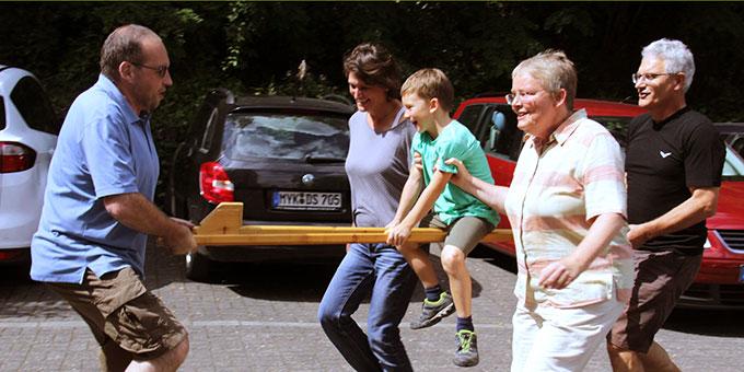 Der Spass gemeinsam mit der Kindern kam nicht zu kurz (Foto: Mucha)