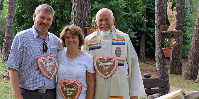 Anneliese & Klaus Wittmann und Pater Elmar Busse (Foto: Wittmann)