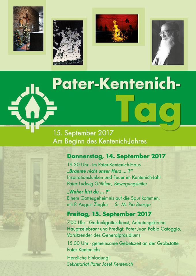 Plakat zum Pater-Kentenich-Tag 2017 (Gestaltung: Sekretariat PJK)