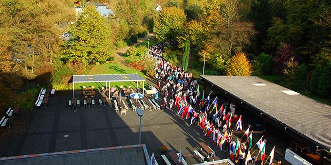Schönes, sonniges Herbstwetter bescherte den Pilgern ein wunderschönes Erlebnis (Foto: Brehm)