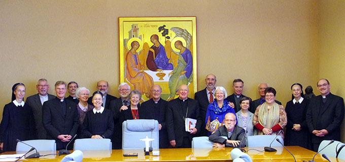 Das Generalpräsidium des internationalen Schönstattwerkes zu Besuch bei Kardinal Kevin Farrell, Präfekt des Dikasteriums für Laien, Familien und Leben (Foto: Neiser)