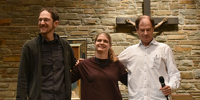 Mathias Gall, Carolin Ankenbauer und Wilfried Röhrig (r) (Foto: Kröper)